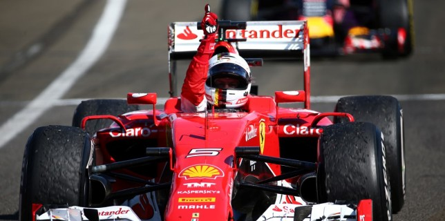 Formula One World Championship 2015, Round 10, Hungarian Grand Prix, Budapest, Hungary, Sunday 26 July 2015 - st place Sebastian Vettel (GER) Ferrari.